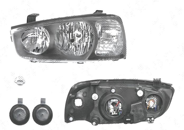 Far Hyundai Elantra (Xd), 06.2000-12.2003, fata, Stanga, H1+H7; electric; cu motor, DEPO