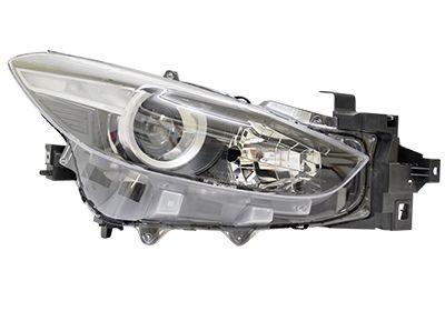 Far Mazda 3 (Bm), 07.2017-, fata, Dreapta, cu daytime running light; H11+H15+W5W; electric; cu motor, DEPO