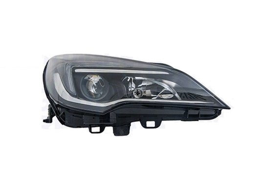 Far Opel Astra K, 10.2015-, fata, Stanga, cu LED indicator; cu LED daytime running light; H1+H7; electric; fara daytime running light LED module; fara LED controlling unit; cu motor;