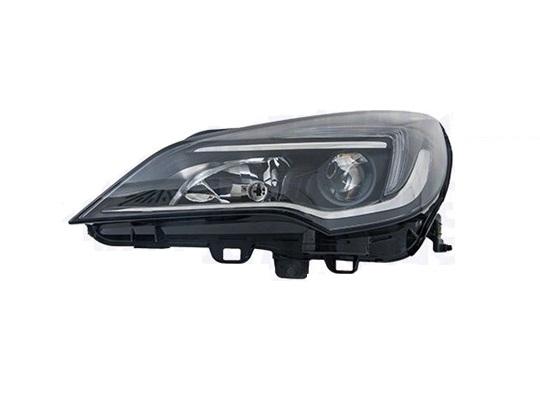 Far Opel Astra K, 10.2015-, fata, Dreapta, cu LED indicator; cu LED daytime running light; H1+H7; electric; fara daytime running light LED module; fara LED controlling unit; cu motor;