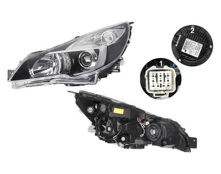 Far Subaru Legacy (Bm/Br), 06.2013-12.2014, fata, Stanga, xenon; D2S+HB3+W5W+WY21W; electric; fara unitate control; cu ballast; cu motor, DEPO
