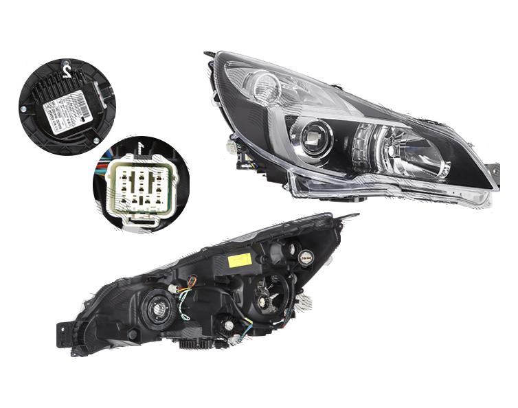 Far Subaru Legacy (Bm/Br), 06.2013-12.2014, fata, Dreapta, xenon; D2S+HB3+W5W+WY21W; electric; fara unitate control; cu ballast; cu motor, DEPO