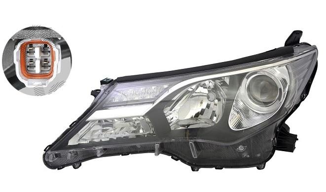 Far Toyota Rav4 (Xa40), 01.2013-02.2016, fata, Stanga, cu daytime running light; tip bec HB3+HB3+LED; electric; fara motoras, DEPO