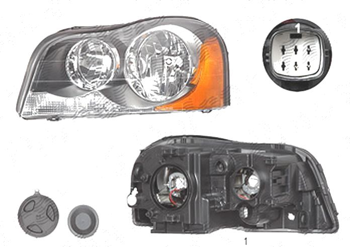 Far Volvo Xc90 (C/P28), 06.2006-, fata, Stanga, H7+H7; electric; semnalizare alba; fara motoras, TYC