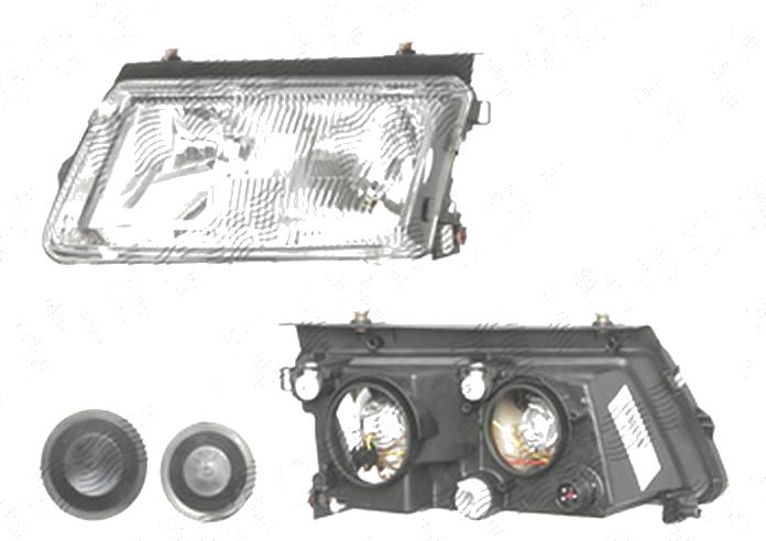 Far Volkswagen Passat (B5 (3b)), 09.1996-11.2000, fata, Stanga, H1+H7+W5W; manual/electric; fara motoras, DEPO