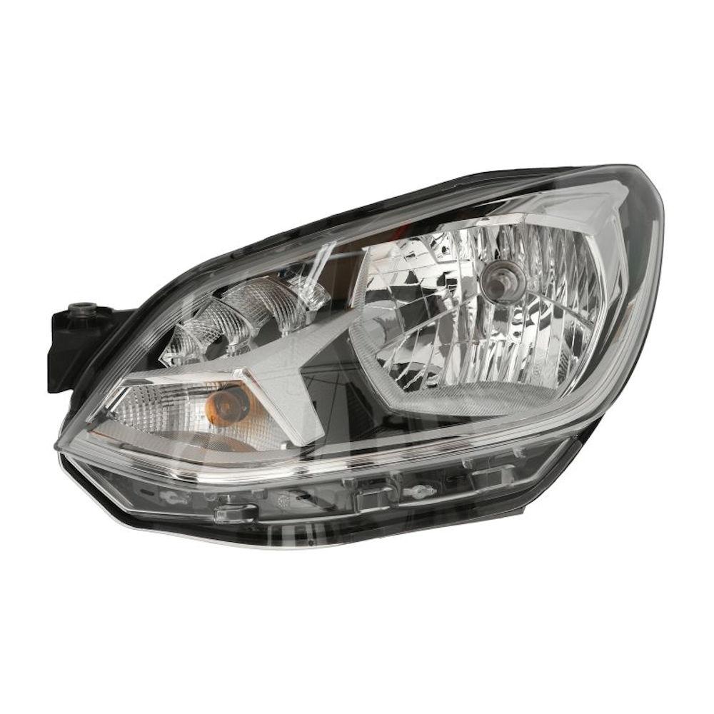 Far VW UP! (VW120), 05.2016-, partea Stanga, tip bec H4, cu lumini de zi cu LED, cu motoras, Hella