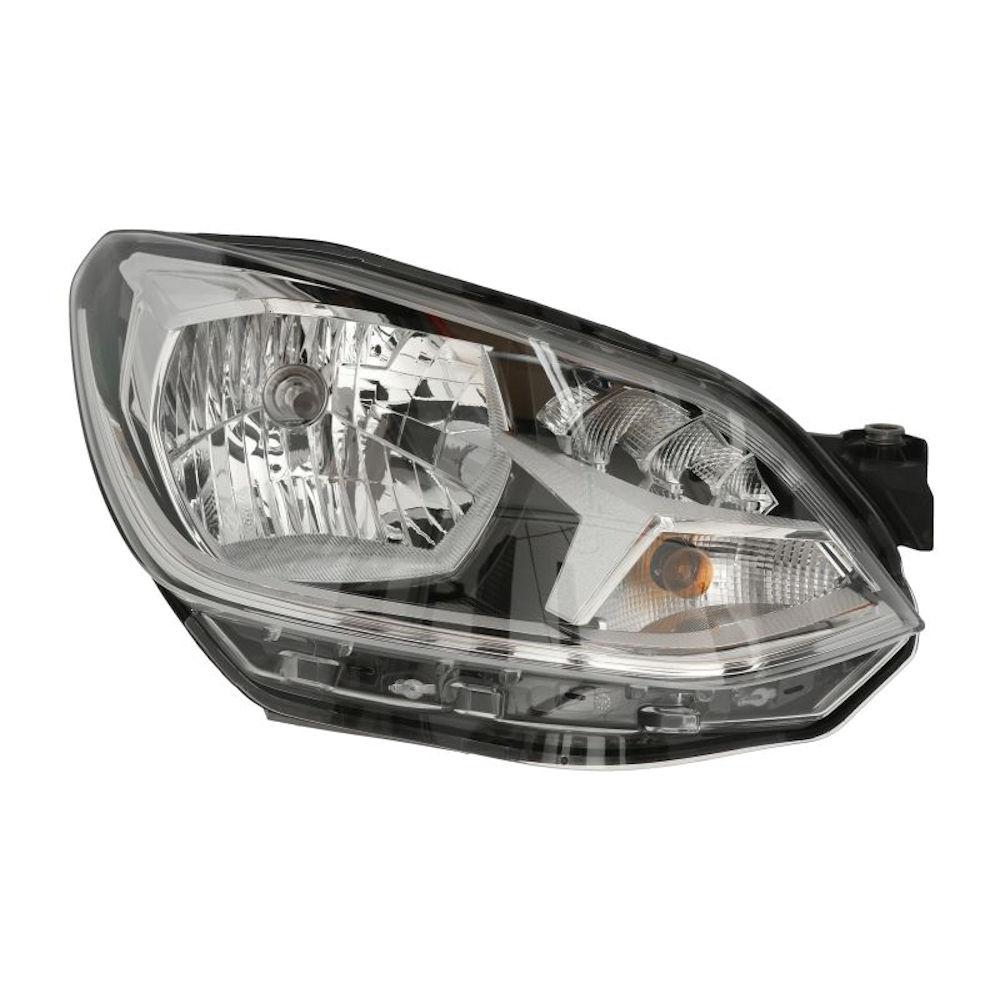 Far VW UP! (VW120), 05.2016-, partea Dreapta, tip bec H4, cu lumini de zi cu LED, cu motoras, Hella