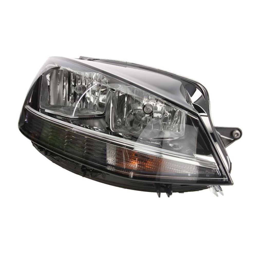 Far VW Golf VII, 03.2017-, partea Dreapta, tip bec H7+H9+LED+WY21W, cu motoras, cu becuri, cu luminide zi cu LED, Hella