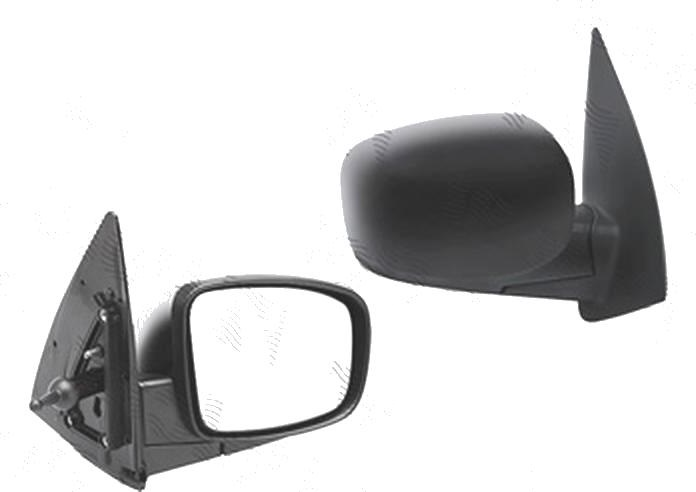 Oglinda exterioara Hyundai I10 (Pa), 04.2008-04.2011, Dreapta, reglare manuala; carcasa neagra; geam convex