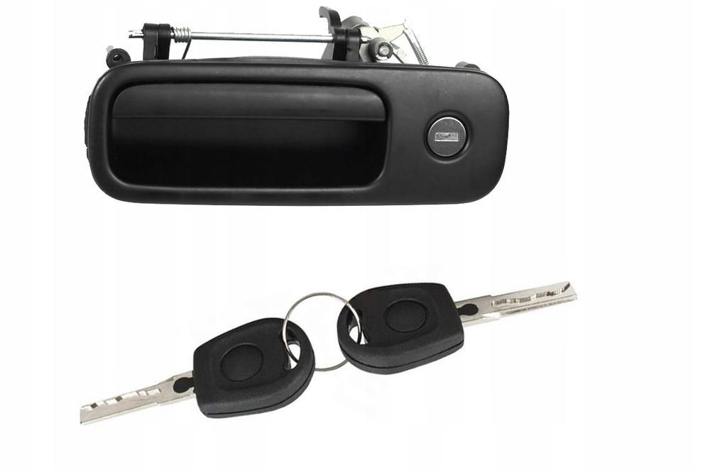 Maner usa exterioara Seat Arosa (6h), 05.1997-12.2000, Alhambra (7v8/7v9), 04.1996-06.2010, Ford Galaxy (Wgr), 05.1995-04.2006, Vw Sharan (7m), 05.1995-04.2010, spate, negru; cu chei; cu 1 usa/ Comutator deschidere capota spate , yale; haion