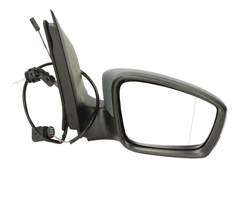 Oglinda exterioara Skoda Citigo, 05.2012-; Citigo, 05.2017- , Seat Mii, 05.2012-, Vw Up! (Vw120), 04.2012-2016, Dreapta, reglare manuala; carcasa neagra; geam convex; cromat, View Max