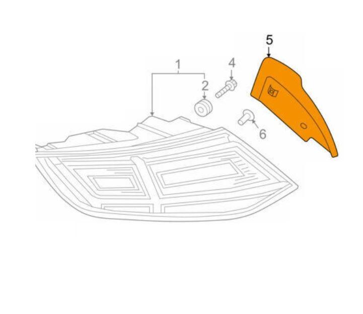 Rampa lampa stop Audi Tt (8s), 08.2014-, Spate, Stanga, OEM/OES