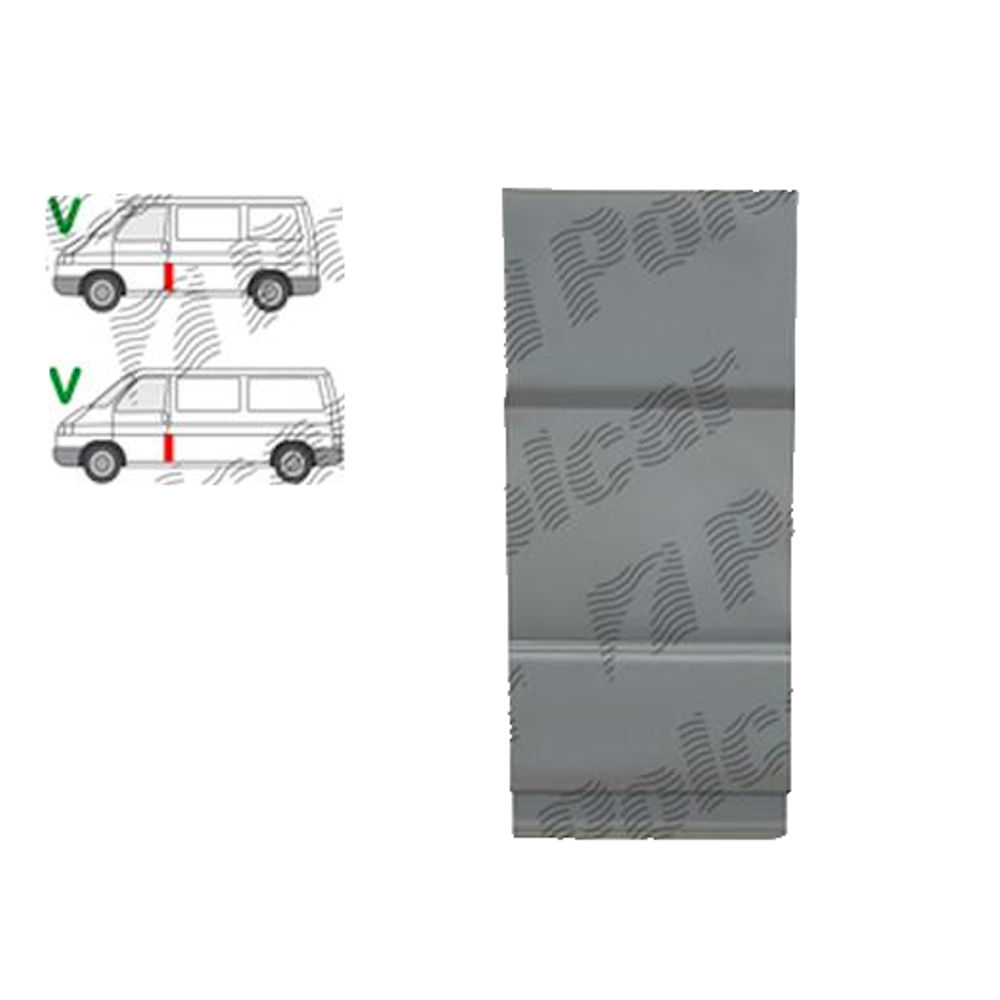 "Stalp mijloc ""B"" Vw Transporter (T4)/Caravelle/Multivan, 07.1990-03.2003, Stanga = Dreapta, Aftermarket"