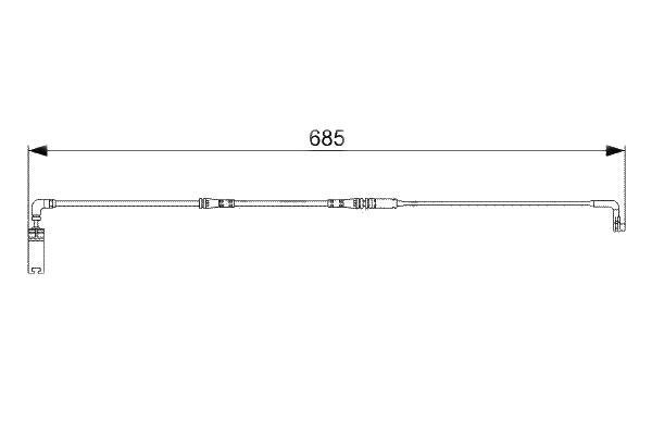 Senzor uzura placute frana Bosch 1987473003, parte montare : Punte spate