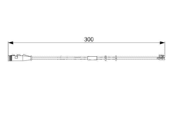 Senzor uzura placute frana Bosch 1987473033, parte montare : Punte fata