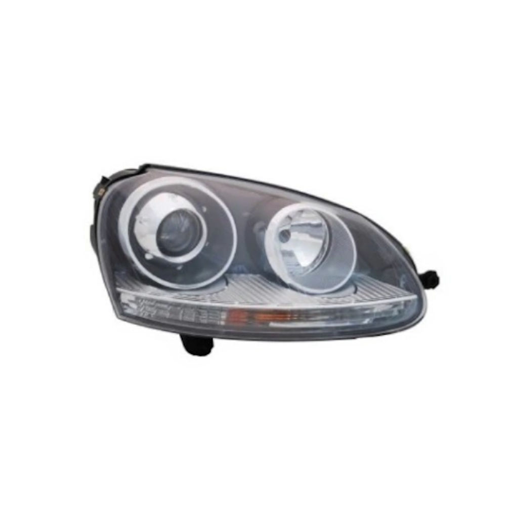 Far VW Golf 5 (1K) 05.2004-05.2009 Jetta / Golf Combi (1K5/1KM) 05.2004-09.2010 DEPO partea Dreapta tip bec D2S+H7 fumurii cu reflector gri
